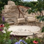 Big rocks-boulders to create a seating in the garden