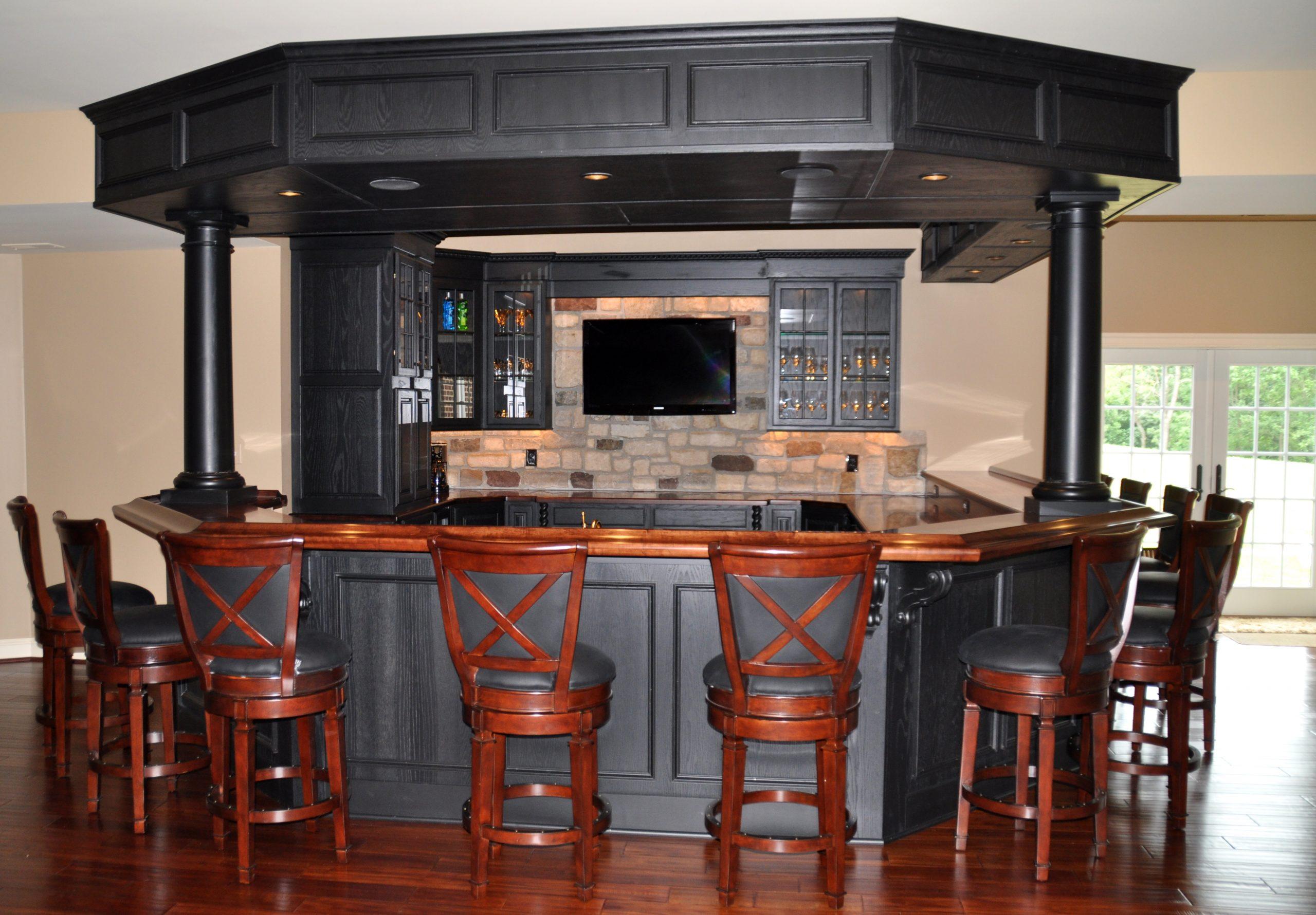 Consider Your Counter Top Material basement bar