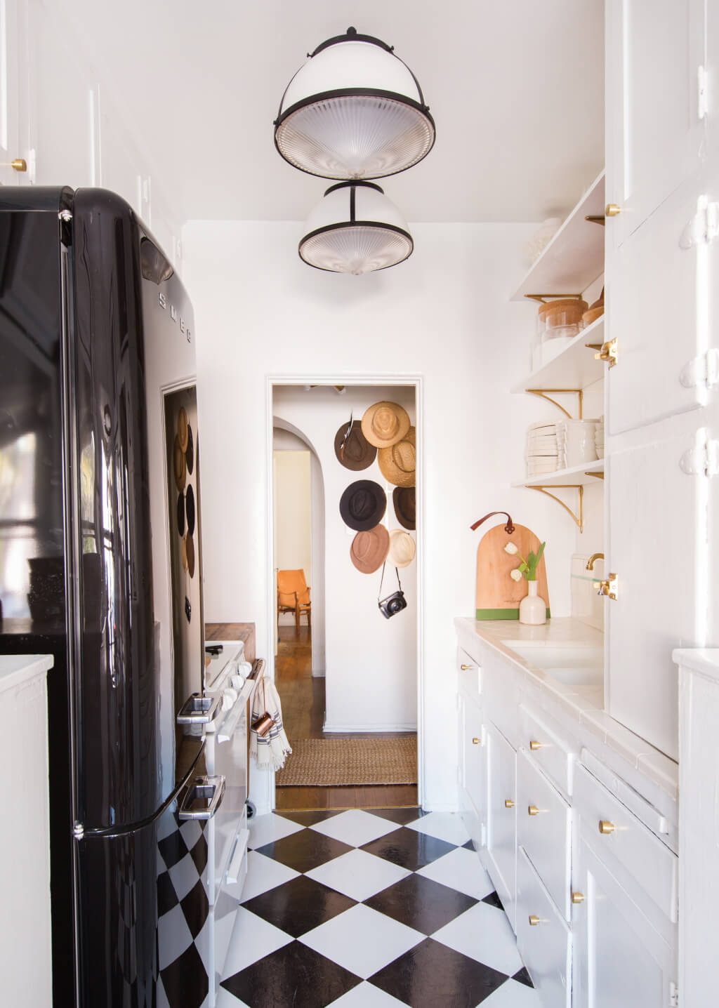 Open shelving in small kitchens.