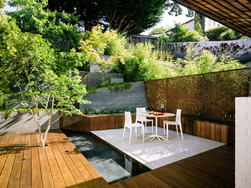 A Terraced Backyard With Views From The Top