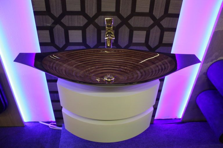 The cool design features an oval shape with a squared off lip at each end.