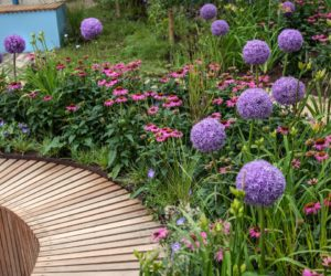 garden seating. Curved Garden Seating Made From Wood Sticks