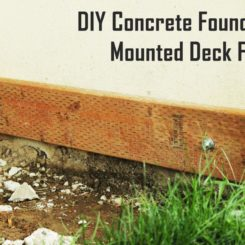 DIY Concrete Mounted Deck Frame