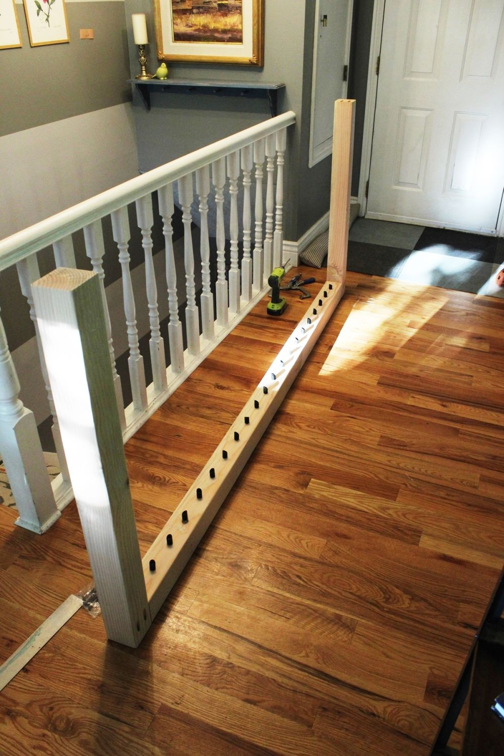 Very DIY Stair Handrail with Industrial Pipes and Wood VI99