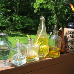 DIY Tiki Torches from Old Glass Bottles