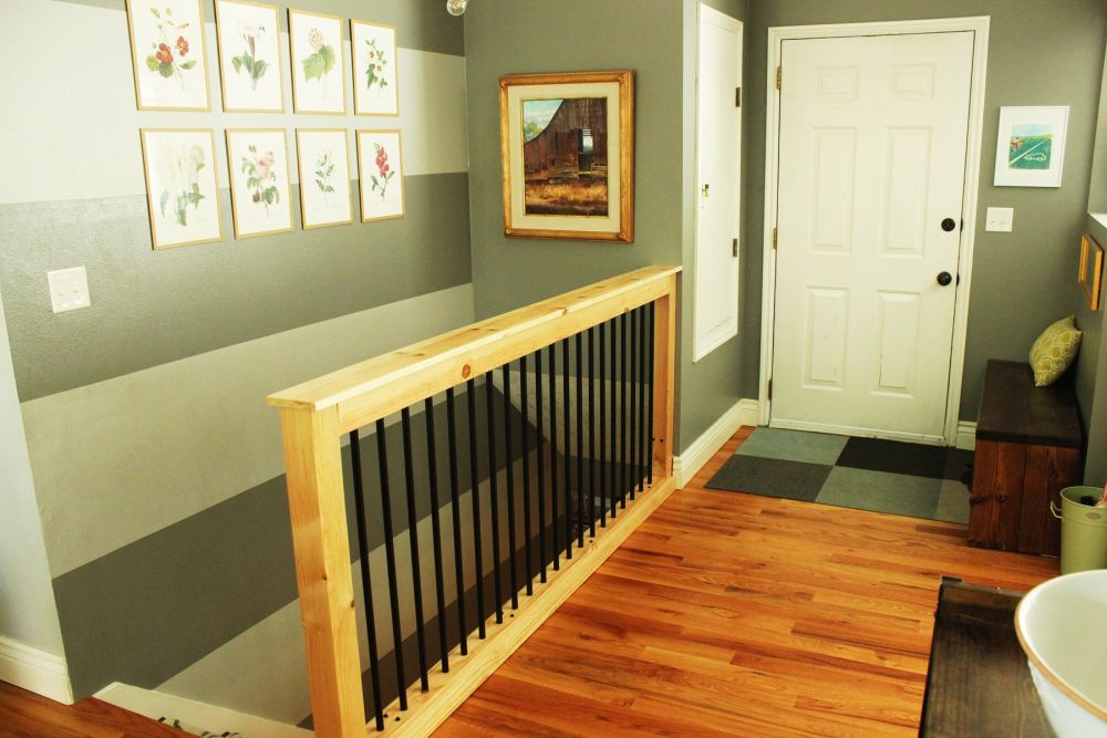 DIY stair handrail tutorial