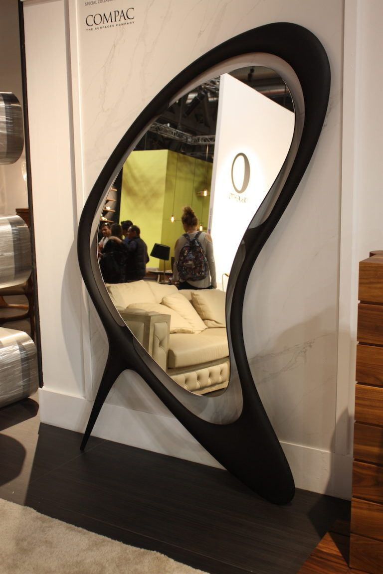 This is an eye-catching mirror, mainly for its shape.