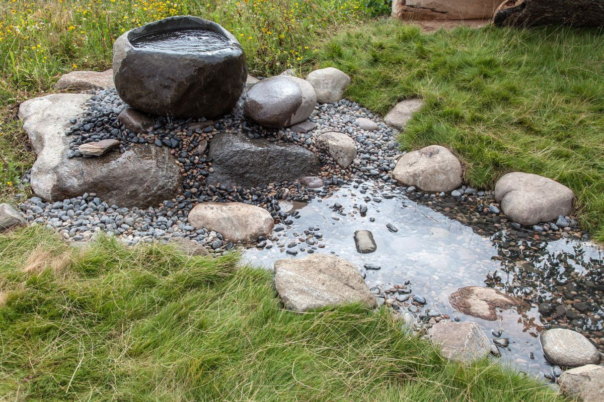A water feature can really enhance a garden. It doesn't have to be big or impressive