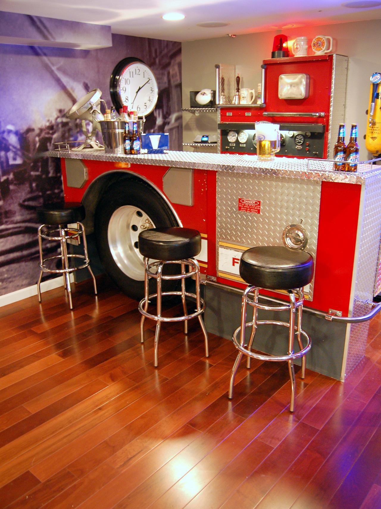 Have a Themed Bar basement bar
