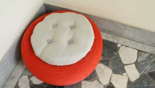 How to make an outdoor seating from an old tire