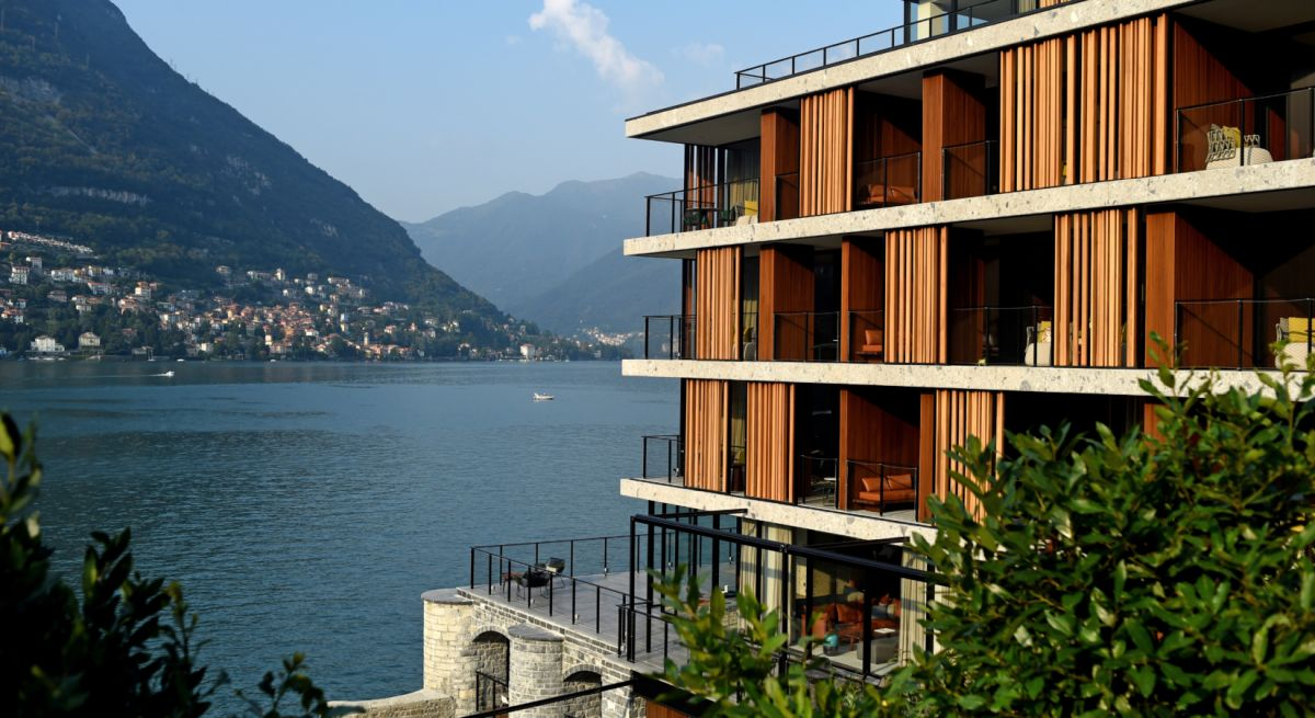 Lake como hotel features top design spectacular views for Hotel design italie