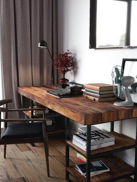 View In Gallery A Reclaimed Wood Desk