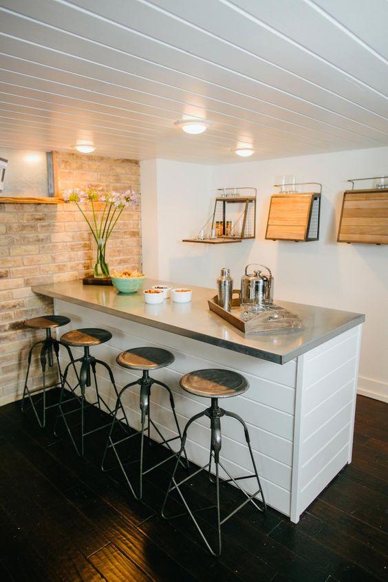 Keep It Minimalistic basement bar