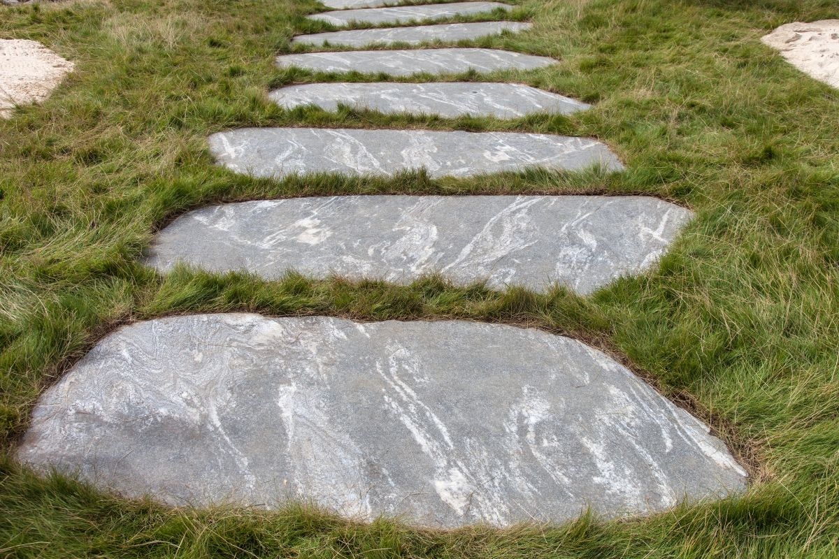Stone pathways are beautiful and long-lasting and their irregularities are what makes them special