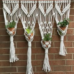 Macrame Herb Wall Hanging