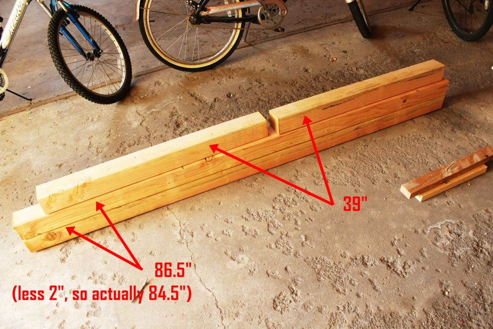Measure, mark, and cut your posts.