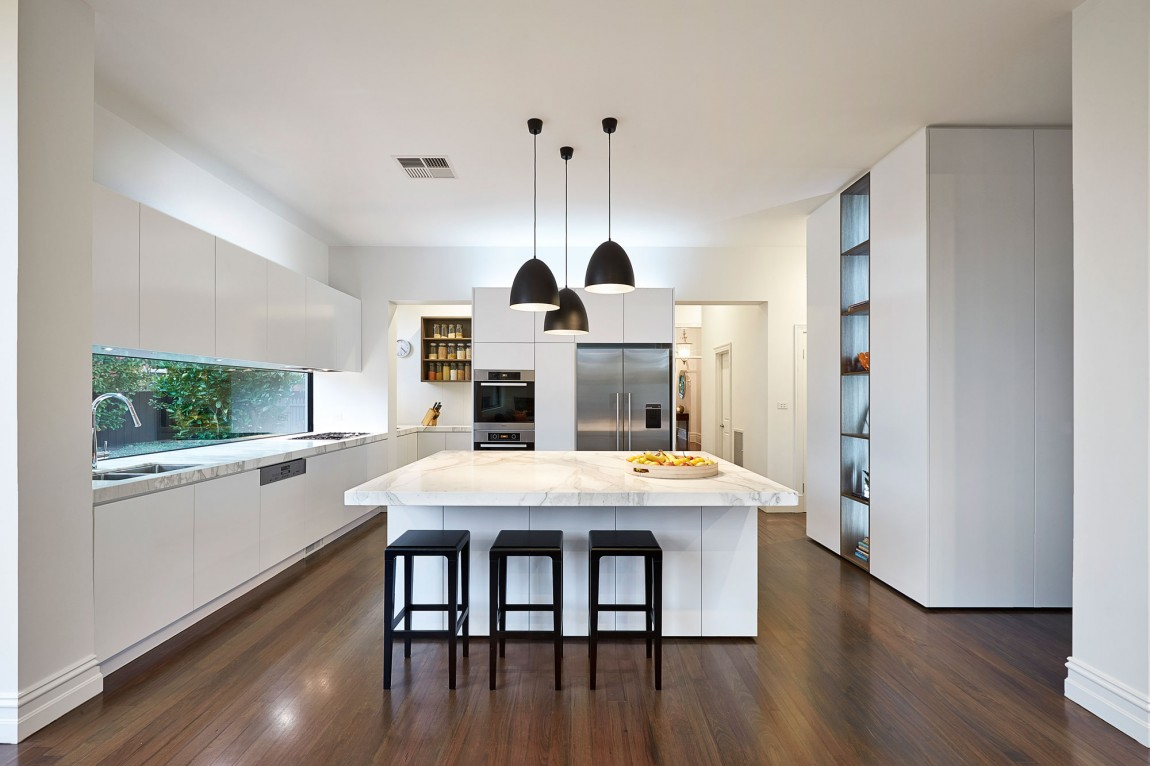 View In Gallery. By Opting For White Kitchen Cabinets ...