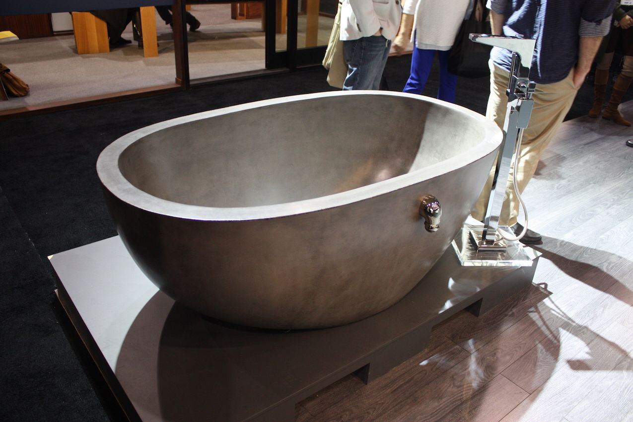 Free-standing tubs are all the rage and this is among the coolest.