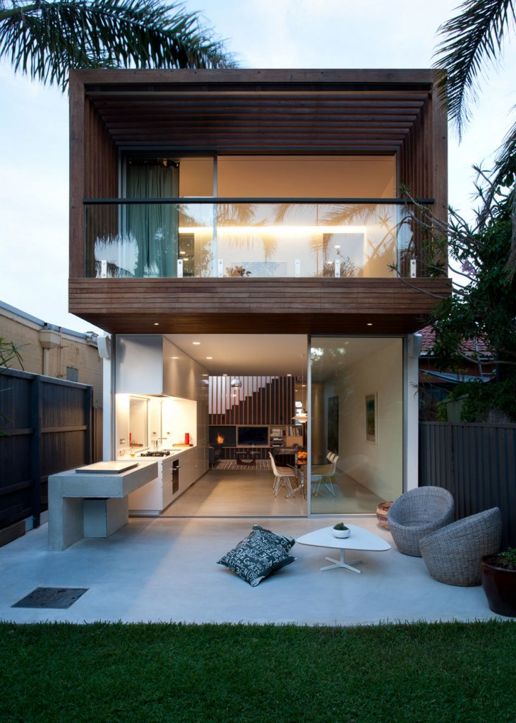 cool concrete patio designs and the houses they complementSmall Patio Houses #4