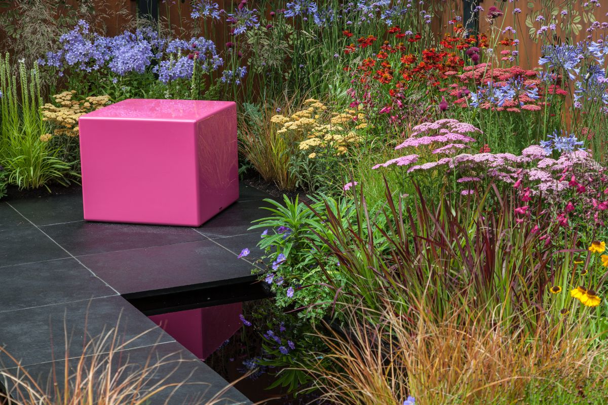 Position the bench or chair close to a water feature without stealing its thunder
