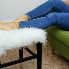 Recycle A Chair Into A Trendy Fur Ottoman