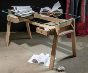 Glass-Top Desks Bring Style Into The Workspace