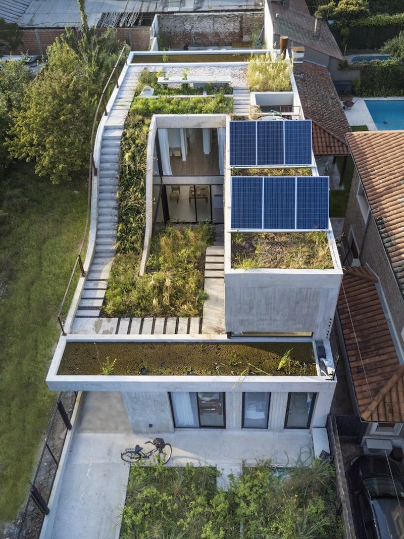 Solar Panels Are Installed On The Roof Of The House, Suggesting A  Sustainable Design Approach Pictures Gallery