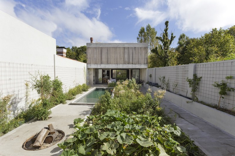 Nice The House Sits On A Plot Between Two Existing Buildings, With A Long And  Narrow