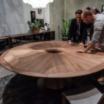 Walnut Furniture - Round table in canaletta walnut Fuji