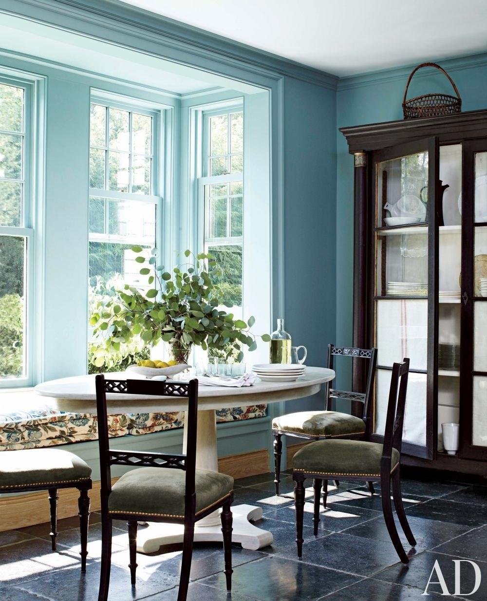 Window seat blue seating design