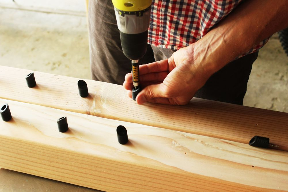 With your railings sanded and smoothed out,
