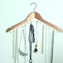 Wood Hanger Jewelry organizer