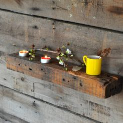 Wood Wall shelf with rustic design