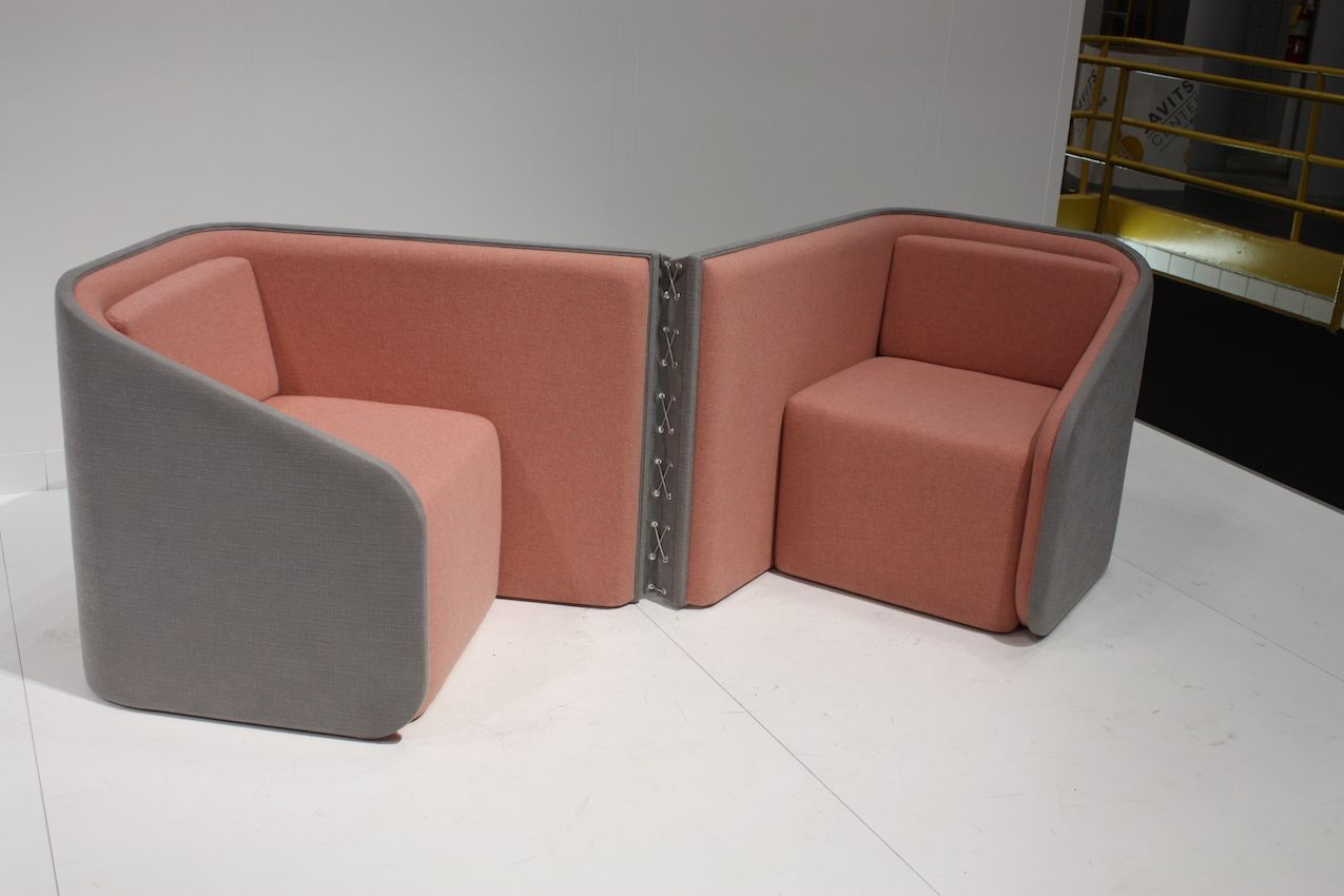 The seats are made of wool felt and plywood.