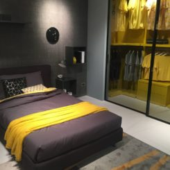 Yellow and black interior design decor