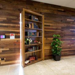 airbnb-sydney office interior design with hidden doors