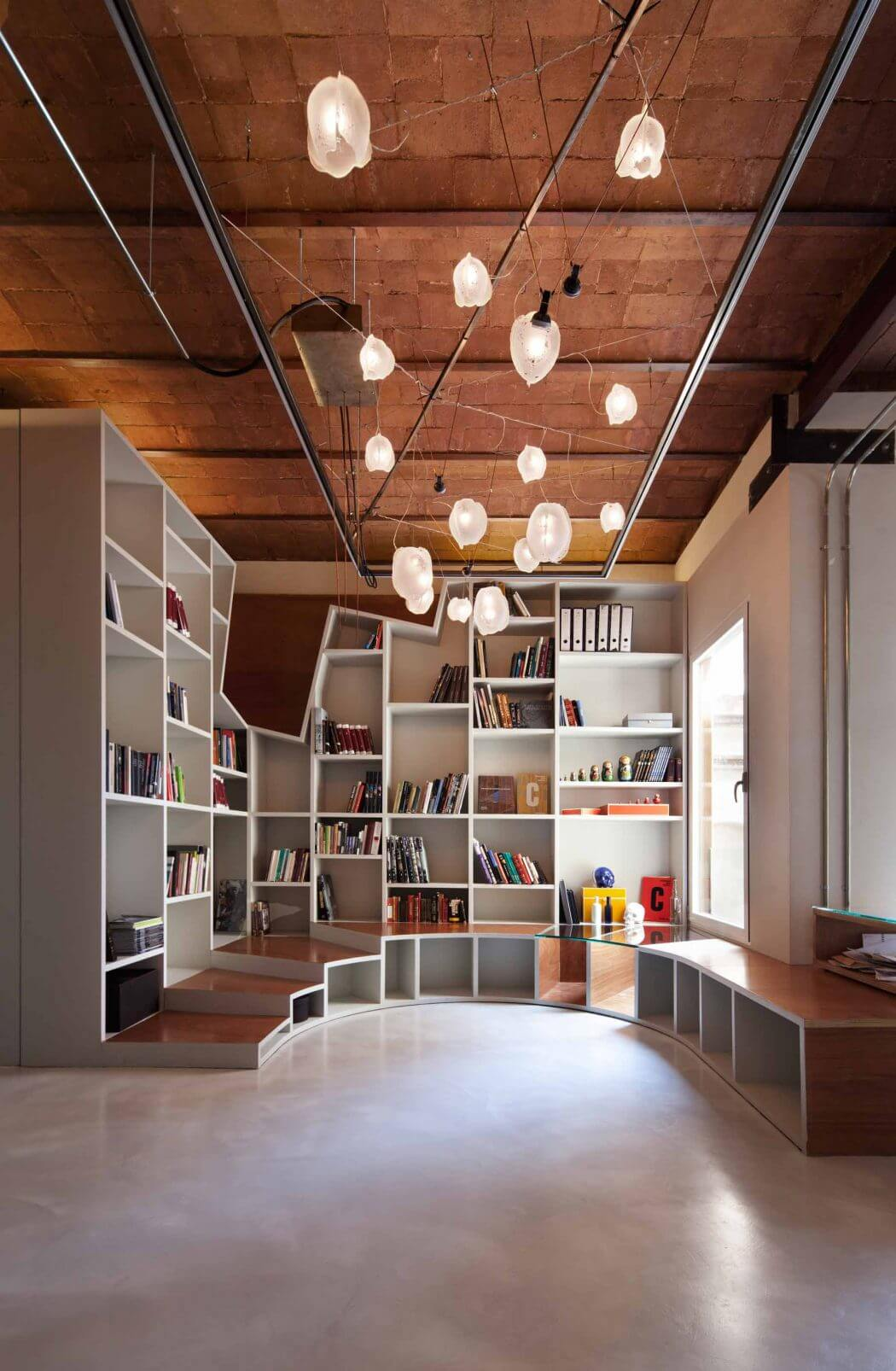 The quirkiness of this space entices you to enter and spend time there.