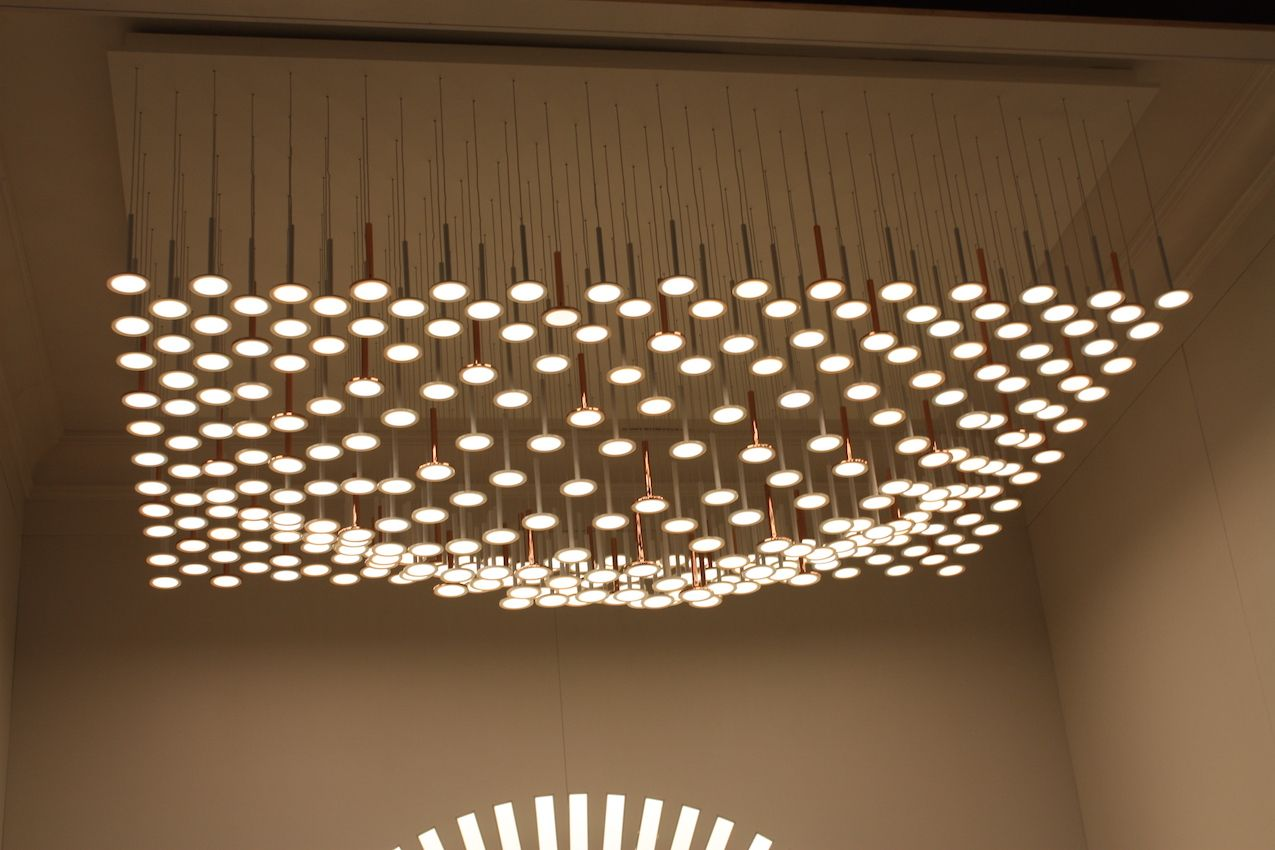 The fixture is almost lie a carpet of light.