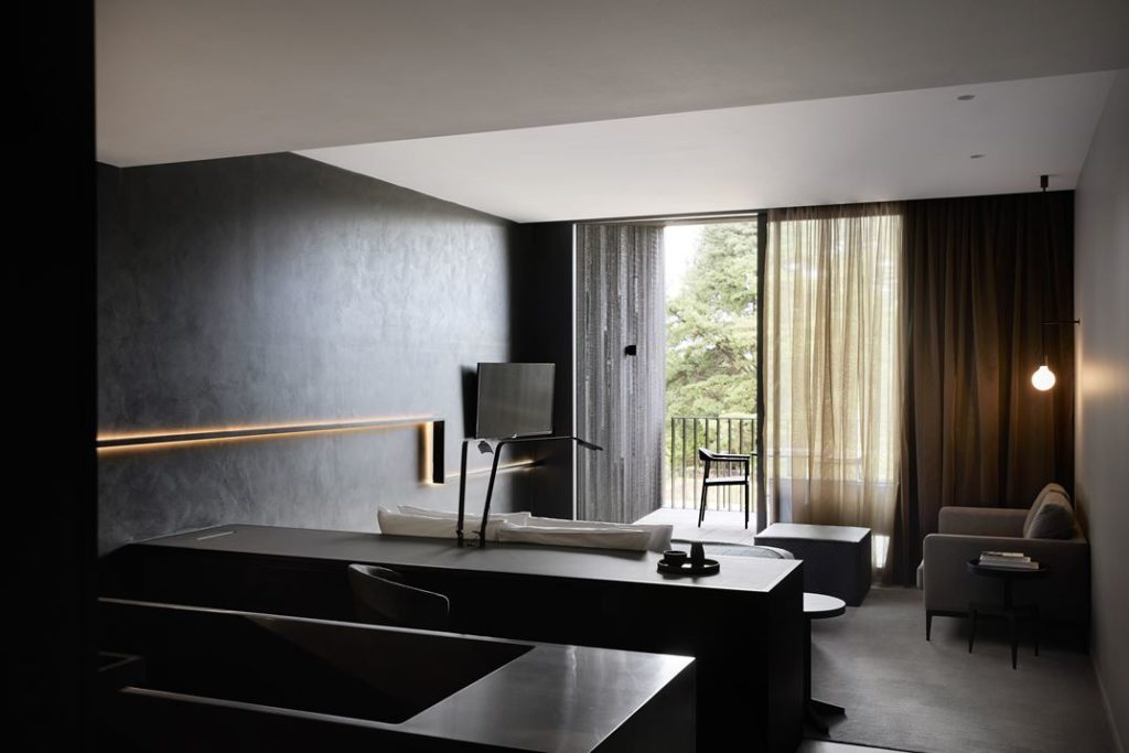 Terrace rooms that have a woods view are set up in the same manner.