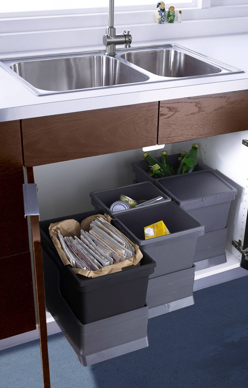 designer kitchen bins modern kitchen trash can ideas for waste management 3226