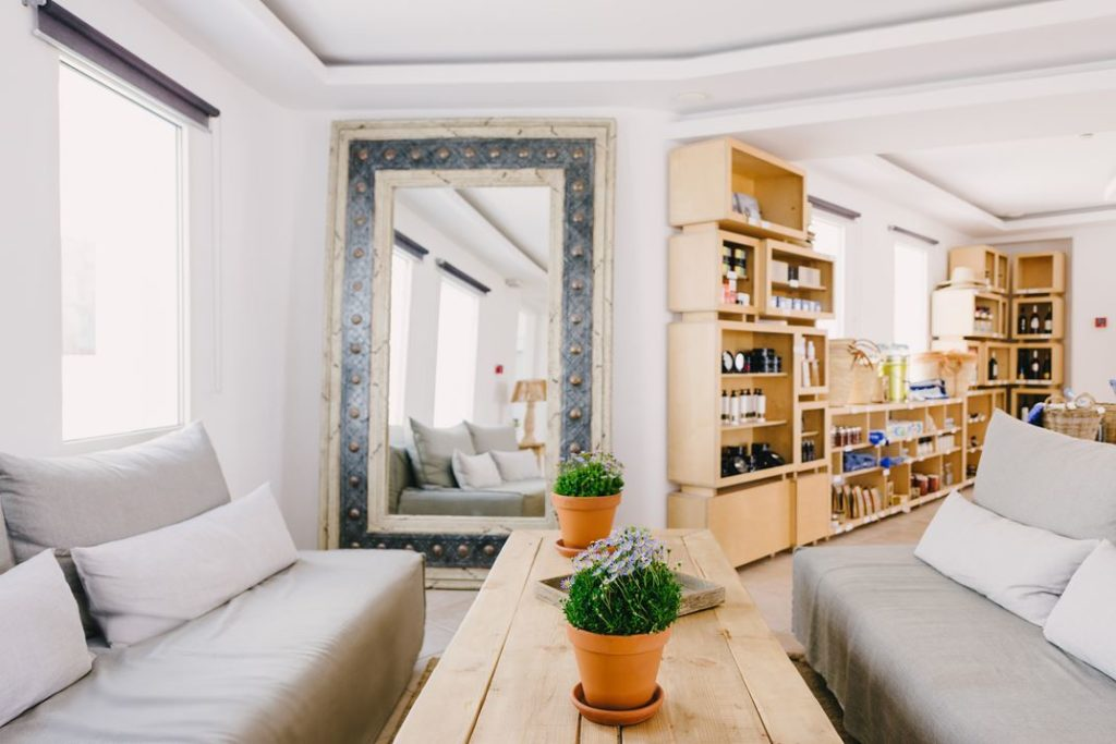 The ease of this space encourages lingering.