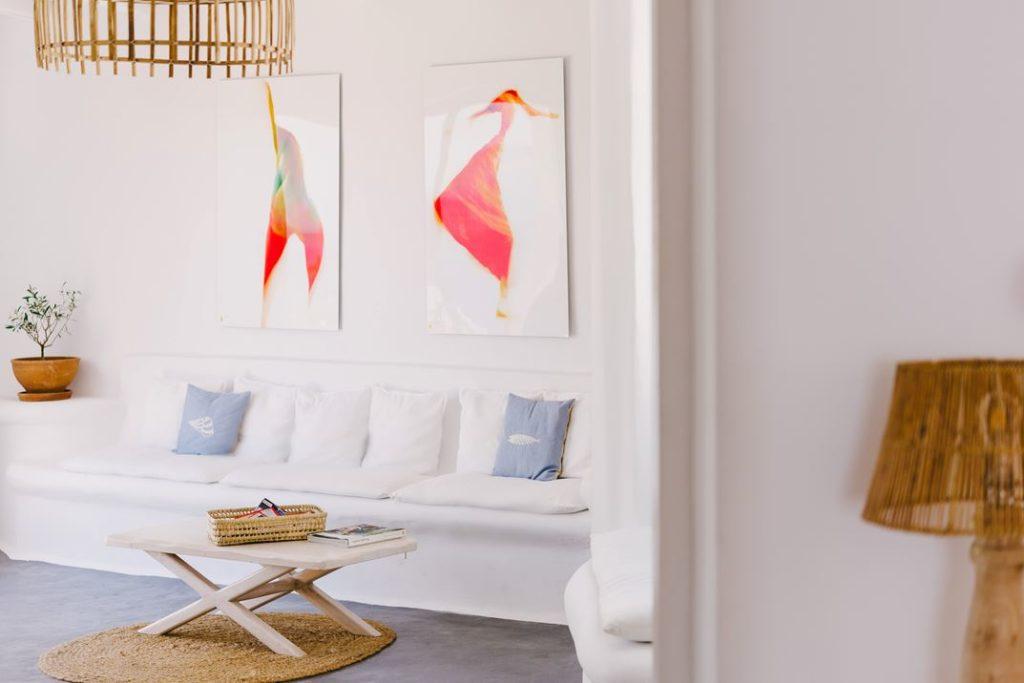 Abstract pink shades wall art
