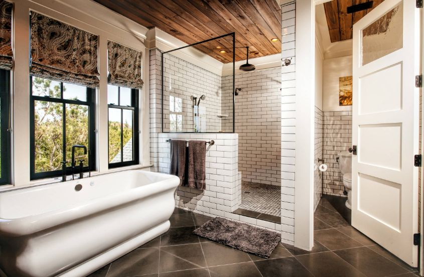 White subway tiles can also provide a clean and elegant look in the bathroom