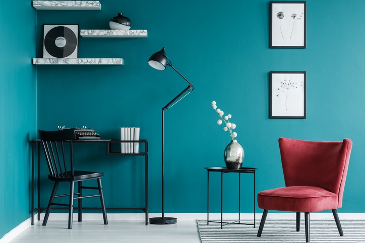 Black and Teal