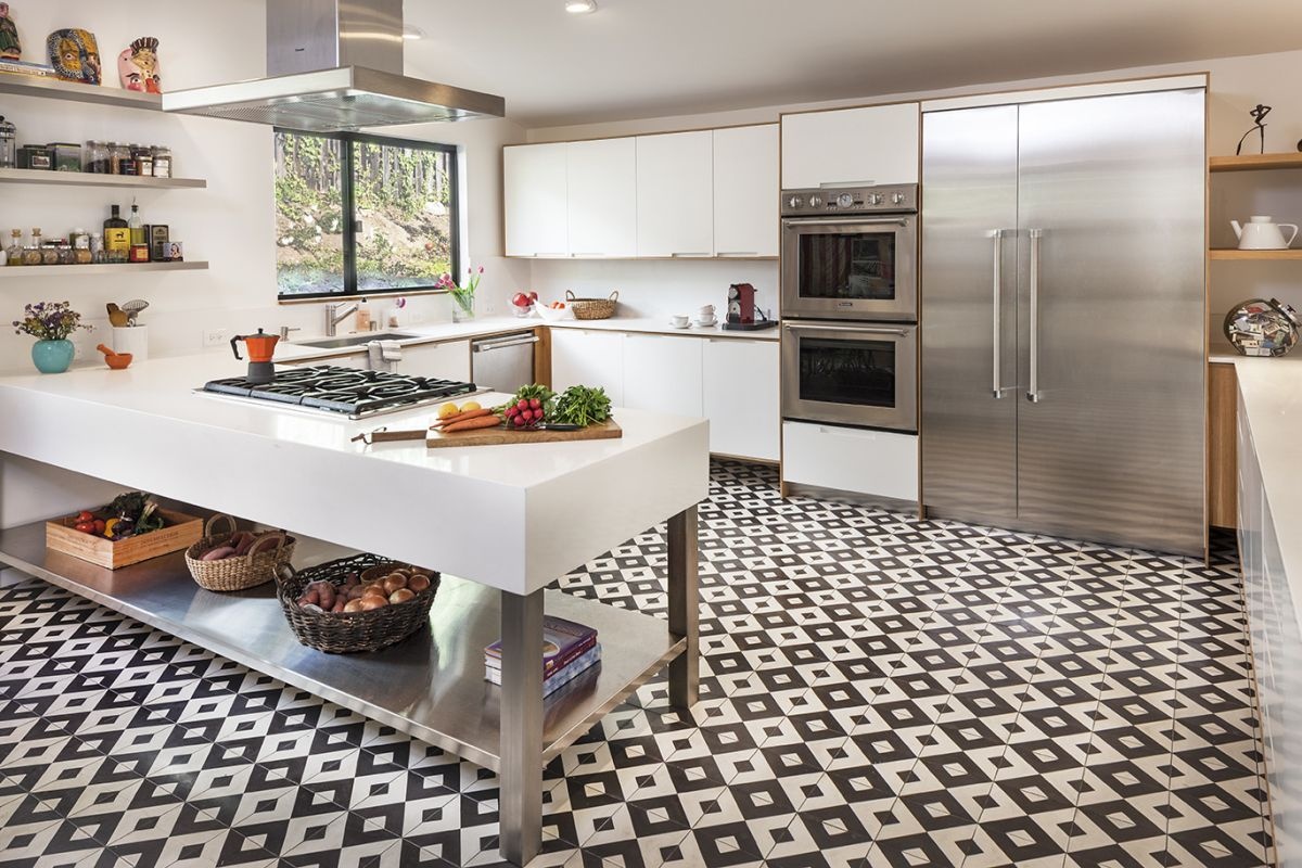 18 beautiful examples of kitchen floor tile 6 small pattern dailygadgetfo Gallery