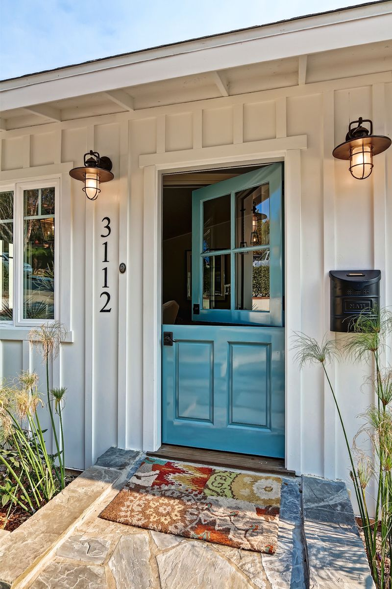 Blue Dutch Door Country Front Design