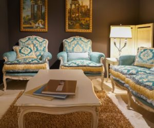 Blue Furniture Set For A Luxury Living Room Part 65