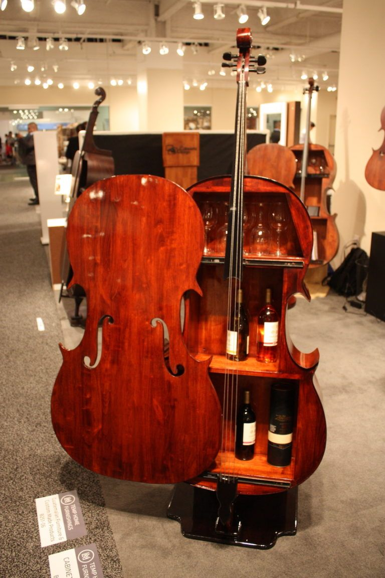 The wine cases and cello-shaped table tops are extremely popular.