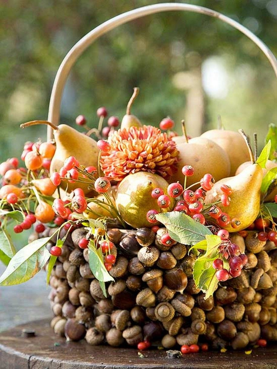 Christmas basket centerpiece