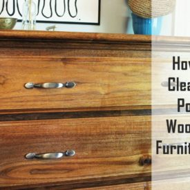 Clean and polish wooden furniture
